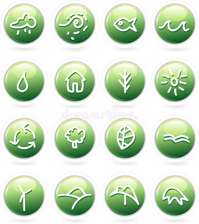 green vektor illustrationer