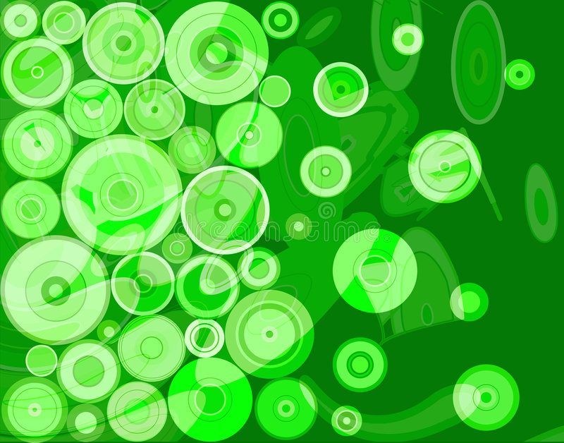 Green abstract royalty free illustration