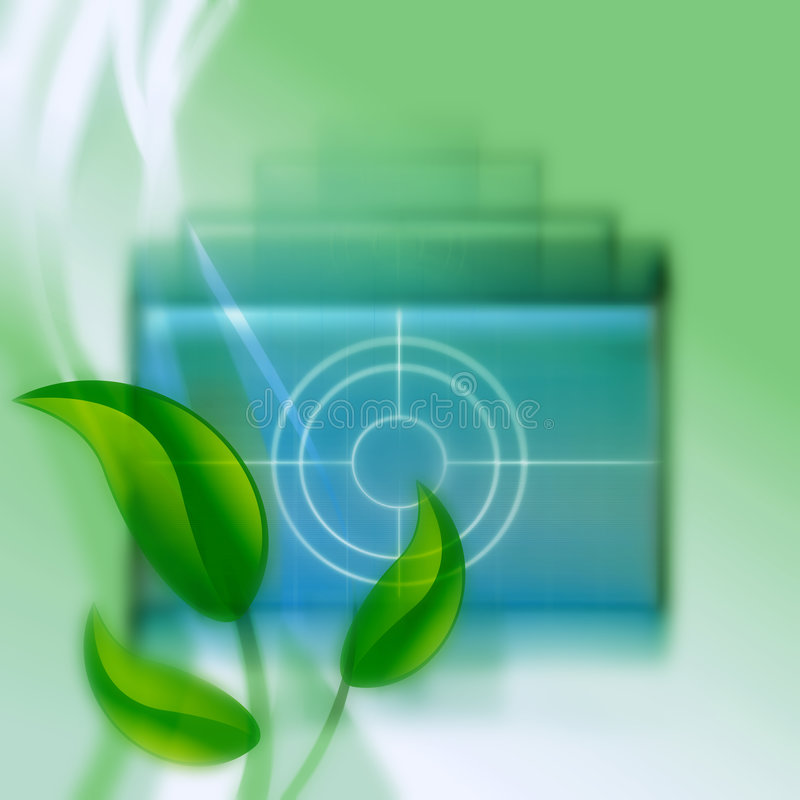 Green abstract background royalty free illustration