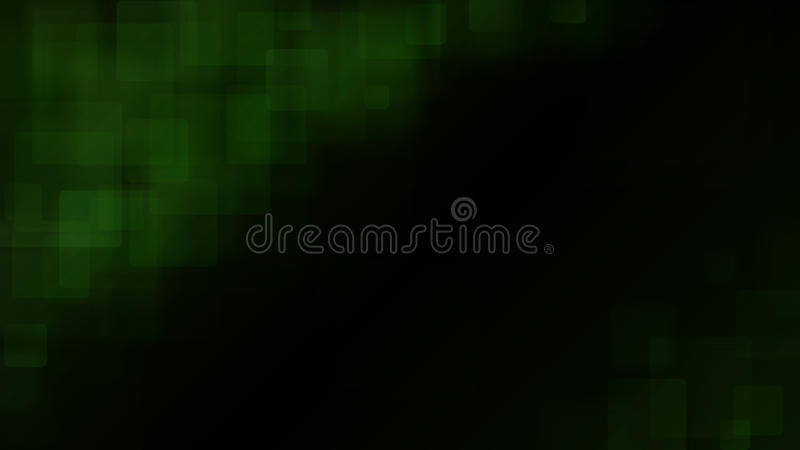 Green abstract background of blurry squares stock illustration
