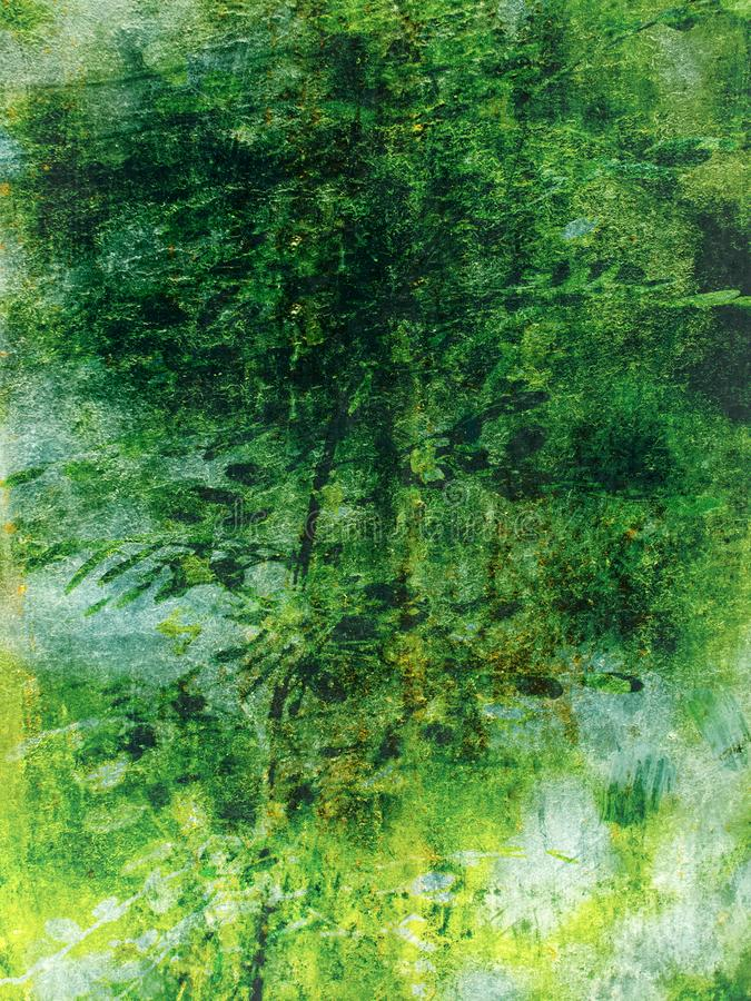 Green abstract background, painting style backdrop stock images
