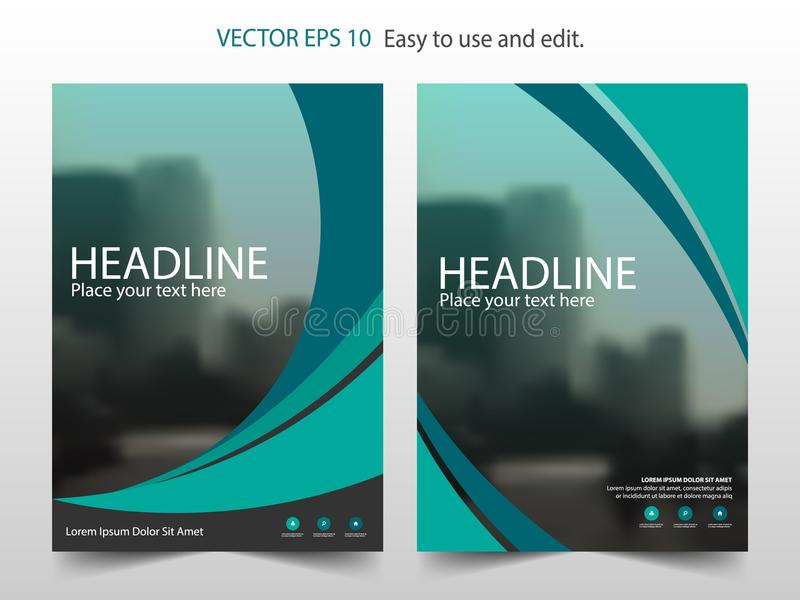 Green Abstract Brochure Annual Report Design Template Vector ...