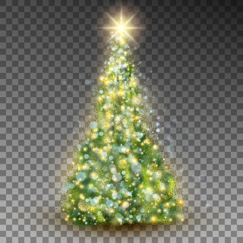 Green abstract Christmas tree. EPS 10 vector vector illustration
