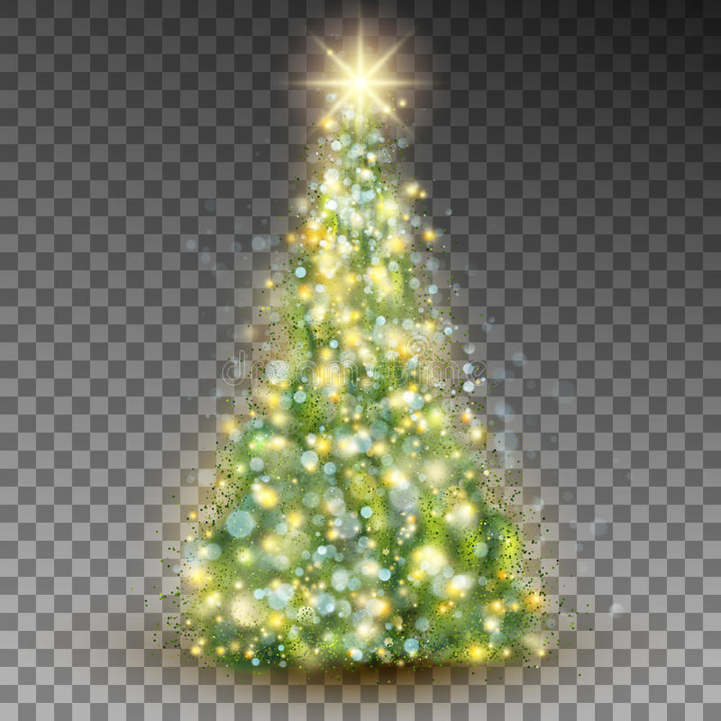 Green abstract Christmas tree. EPS 10 vector royalty free illustration