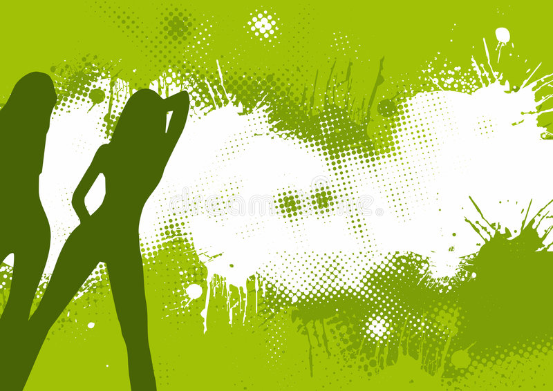Green abstract dancers royalty free illustration