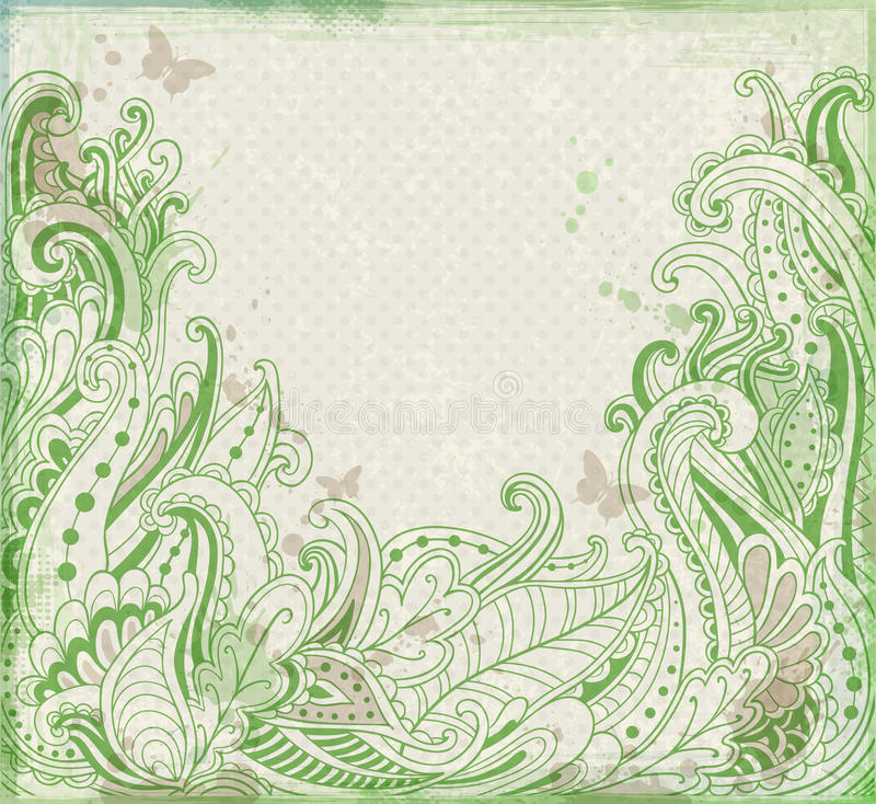 Download Green Abstract  Floral  Background Stock Vector - Image: 34725709