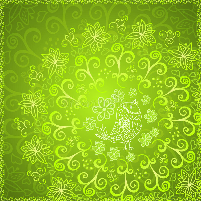 Download Green Abstract Floral Ornament Background Stock Vector - Illustration of fabric, detail: 29399134