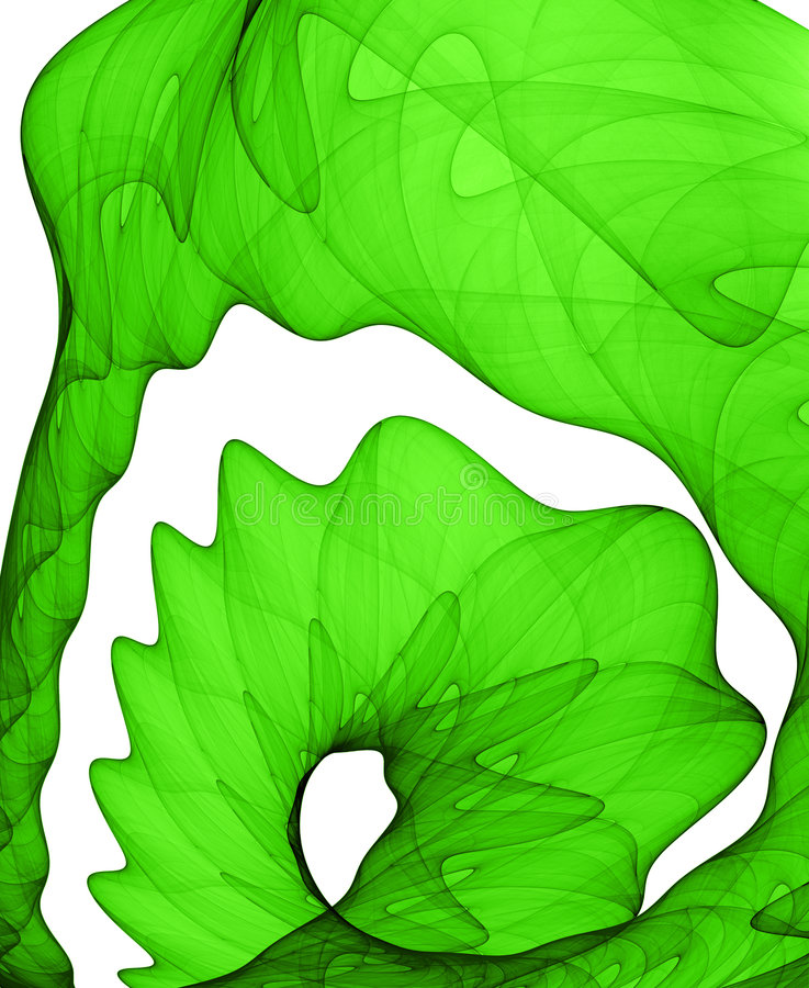 Green abstract formation stock photo