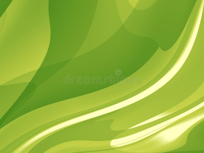 Green abstract fractal background with a dynamic pattern vector illustration