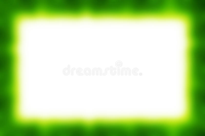 Green Abstract Frame stock image