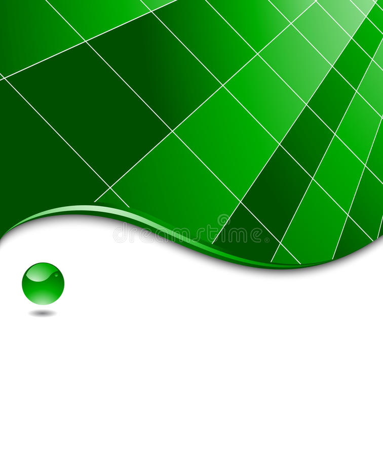 Green abstract high-tech business template royalty free illustration