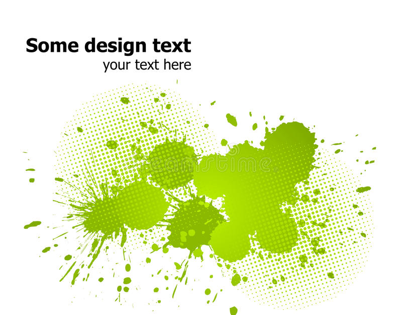 Green abstract paint splashes background. Vector. Elegance paint splash background with place for your text
