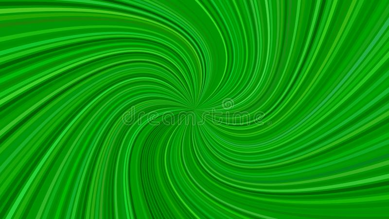 Green abstract psychedelic spiral stripe background - vector graphic stock illustration