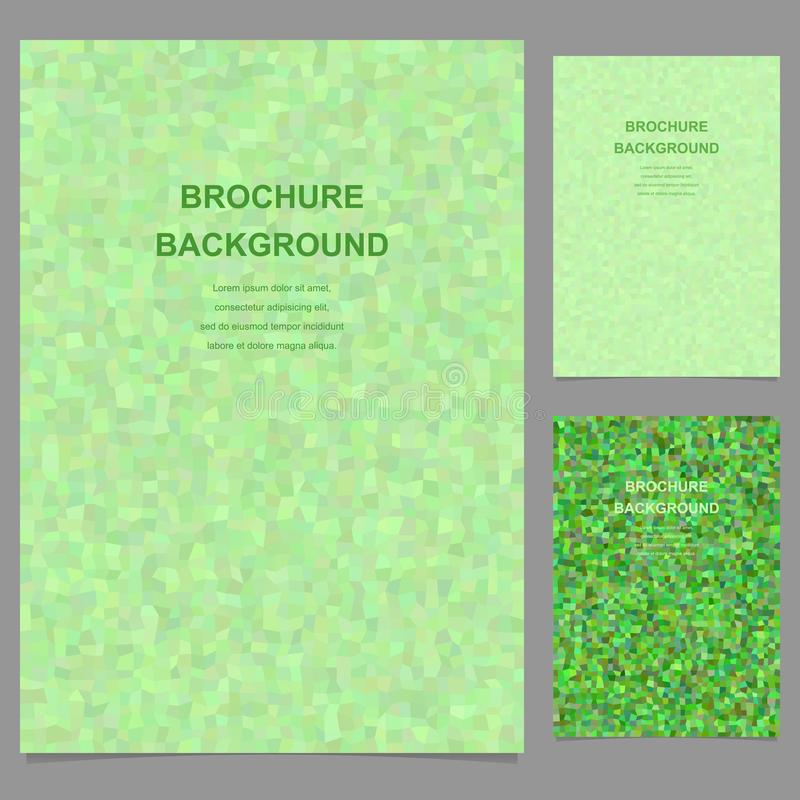 Green abstract rectangle mosaic brochure template stock illustration