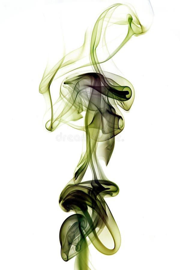 Green abstract smoke stock illustration