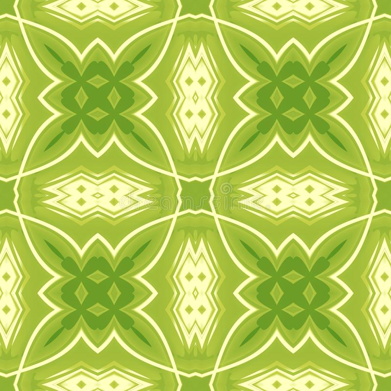 Green abstract texture. Background illustration with crossing lines. Seamless tile. Textile print pattern. Home decor fabric desig royalty free illustration