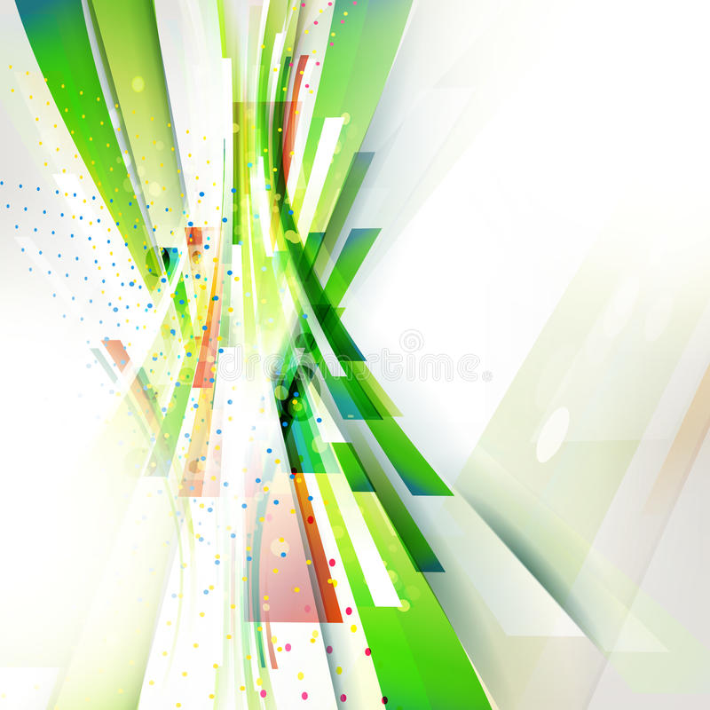Green abstract vertical wave geometric background for technology presentation. Green color abstract geometric vertical wave for eco technology presentation and stock illustration
