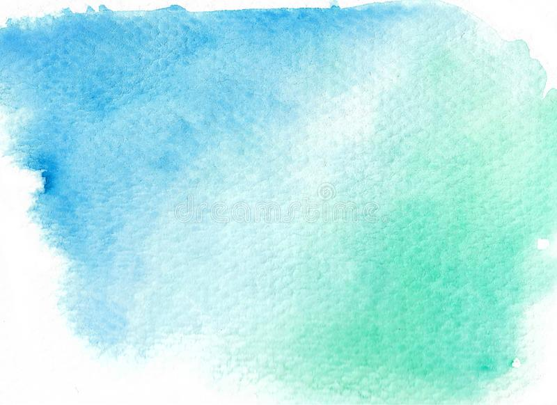 Green abstract watercolor background. royalty free stock photo