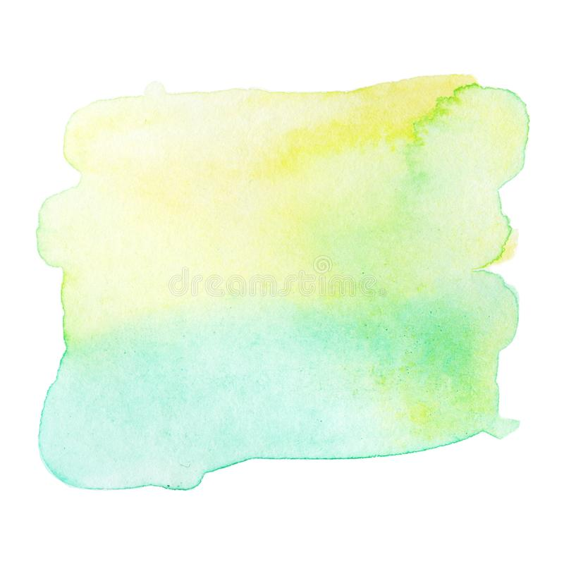 Green Abstract watercolor splash. Wet Watercolour drop for your royalty free illustration