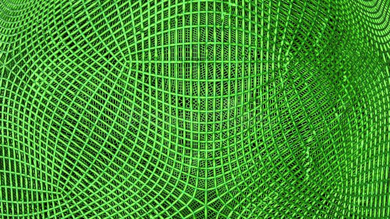 Green abstract wireframe futuristic background, 3d render. Illustration vector illustration