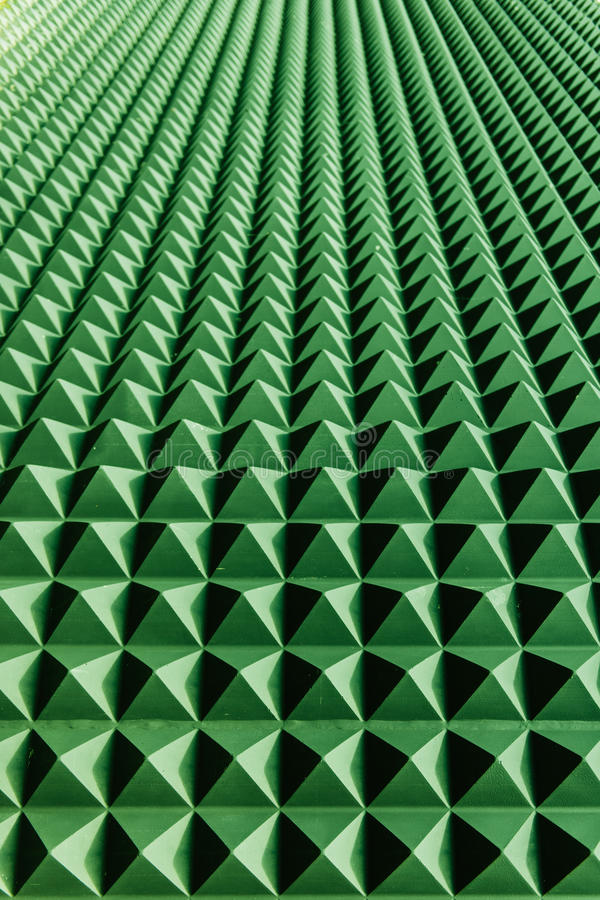 Green abstraction perspective on a wall. Composed of blue bricks with sun shades vector illustration