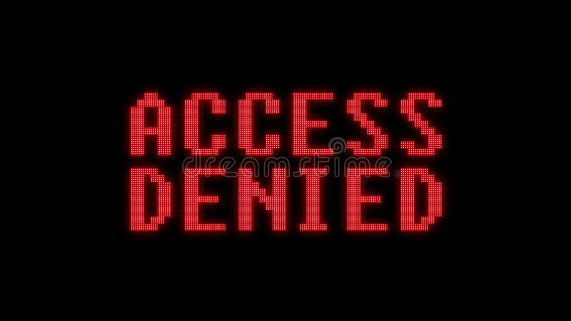 Green access denied text on digital black lcd screen illustration new quality techology colorful joyful vintage stock. Green access granted text on digital black stock illustration