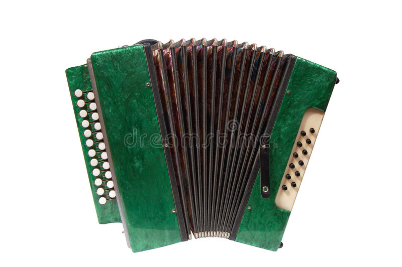 Green Accordion royalty free stock photography