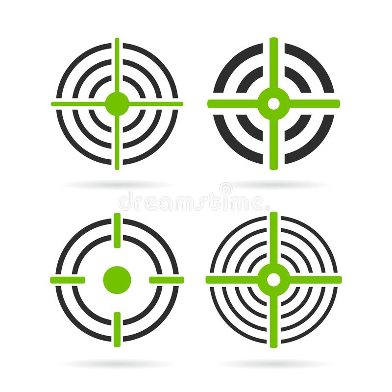 Green aim target vector icon vector illustration