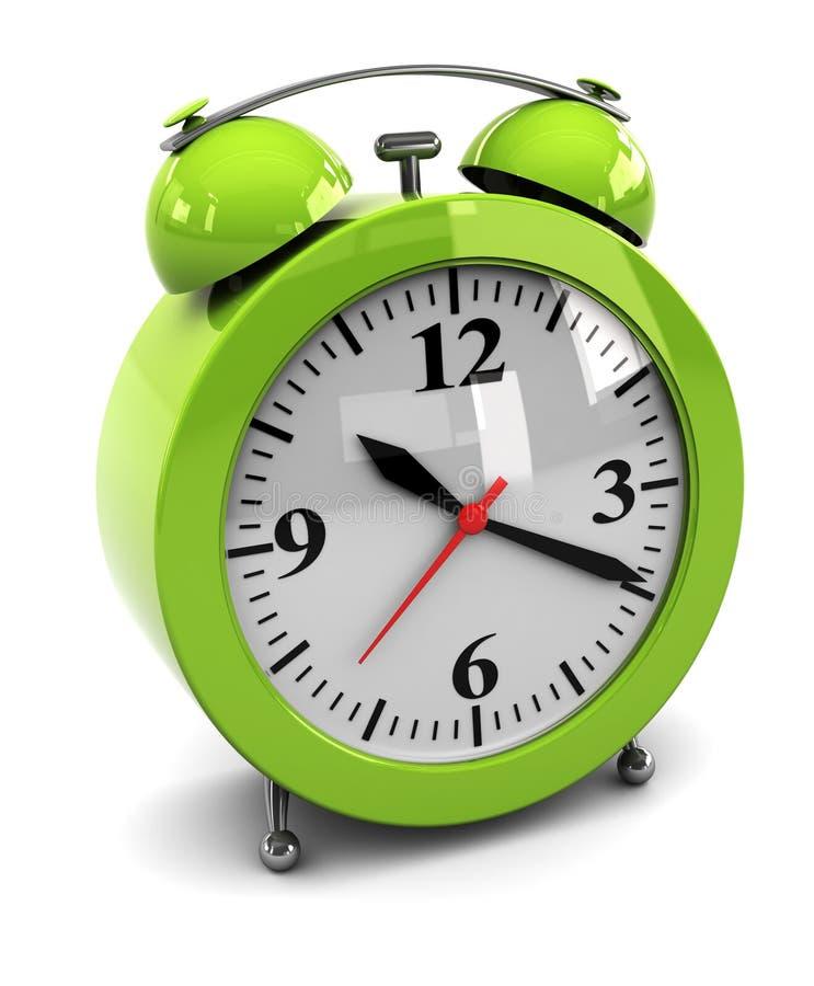 Green alarm clock stock illustration