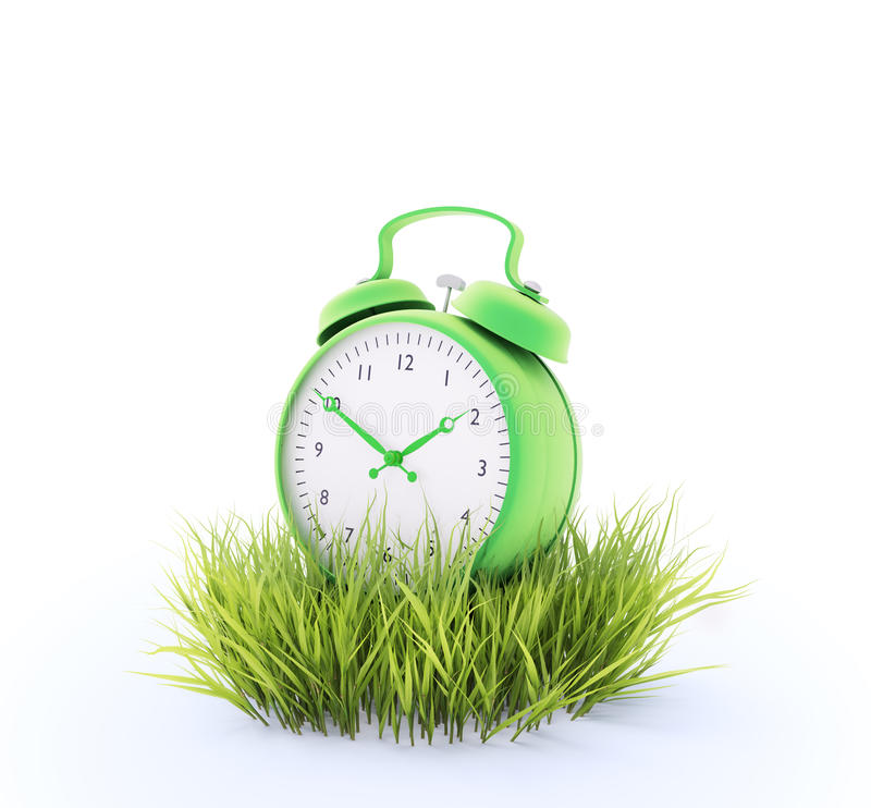 Download Green alarm clock stock illustration. Image of grow, change - 27945291
