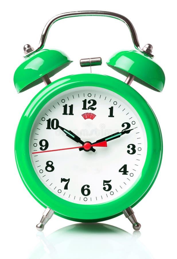 Free Green Alarm Clock Royalty Free Stock Photos - 53295238
