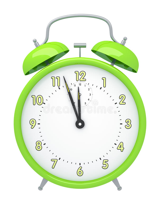 Green alarm clock vector illustration