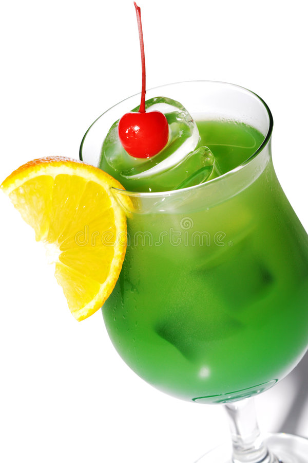 Green Alcoholic Cocktail stock photos