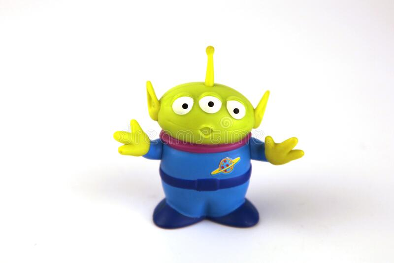 Green alien is a character from the movie series Toy Story. With fine details and in green stock photography