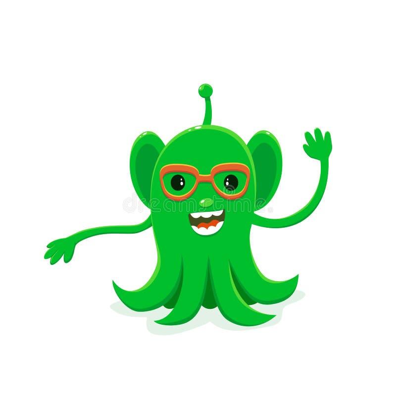 Green Alien stock illustration