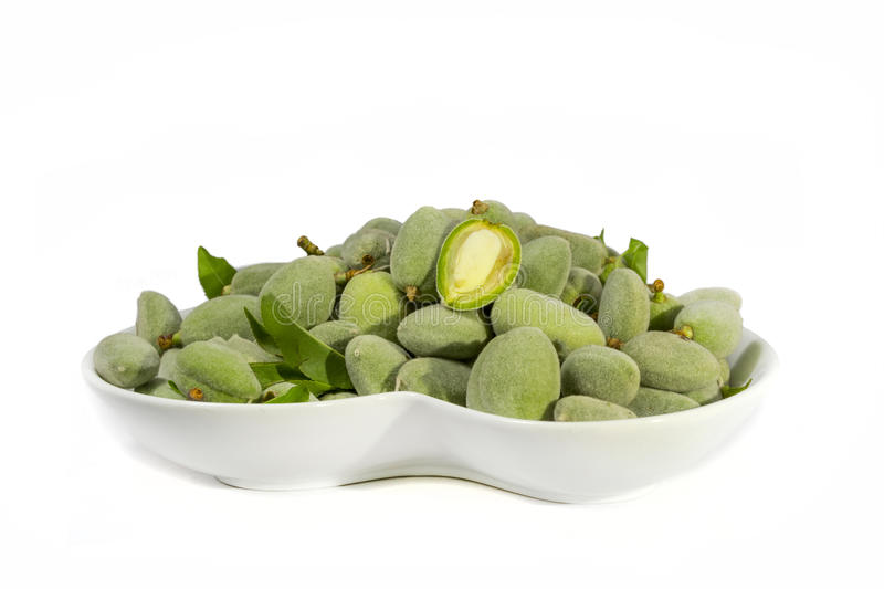 Green almond royalty free stock image