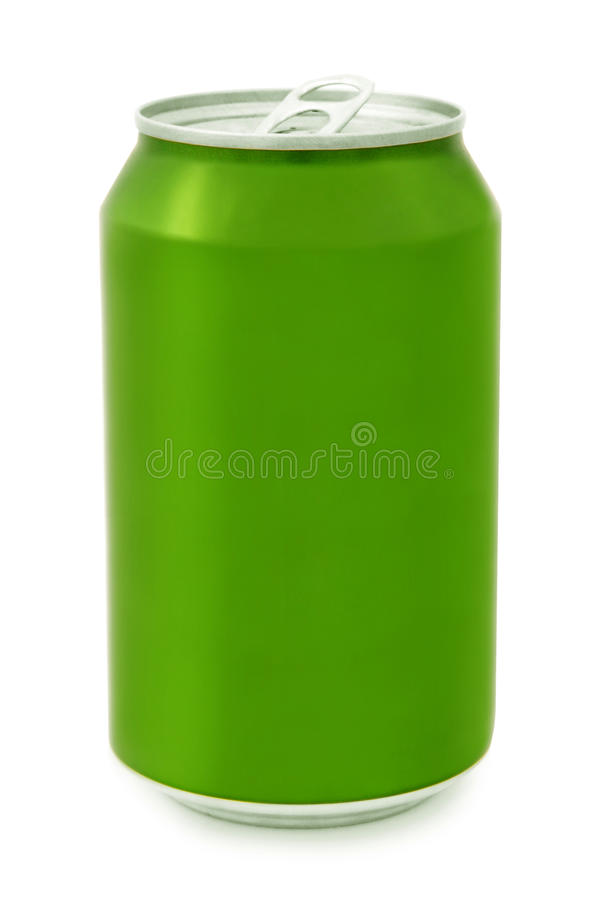 Green aluminum Can royalty free stock photo