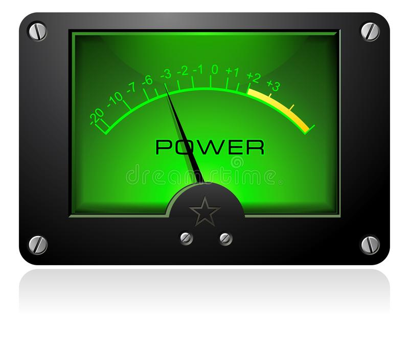Download Green Analog Meter stock vector. Image of dashboard, laboratory - 10454332