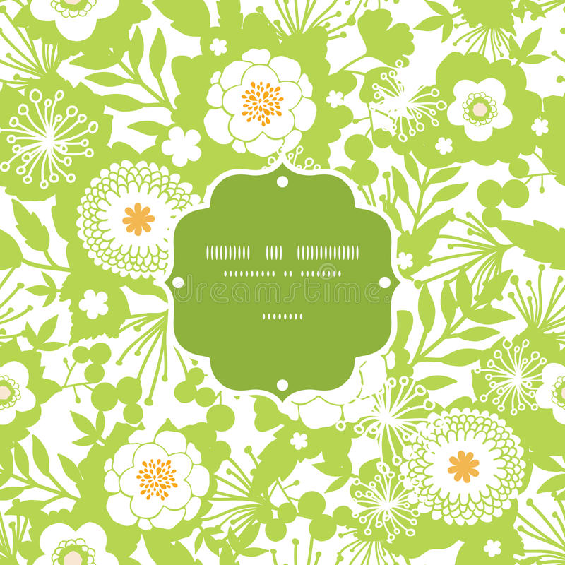 Free Green And Golden Garden Silhouettes Frame Seamless Stock Photography - 32835652