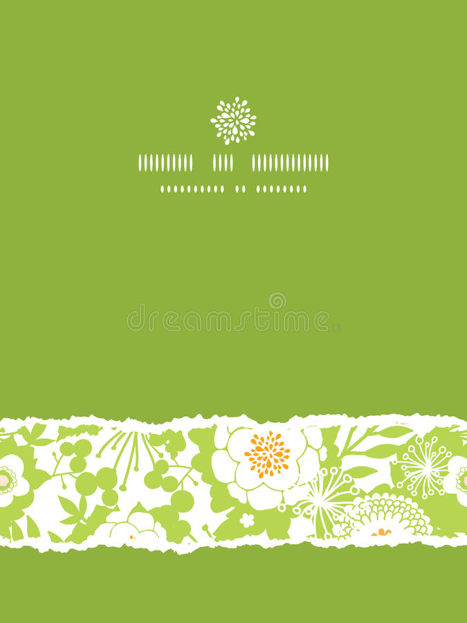 Free Green And Golden Garden Silhouettes Vertical Torn Royalty Free Stock Photos - 32835708