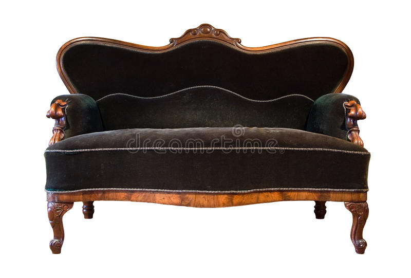 Green antique sofa royalty free stock images
