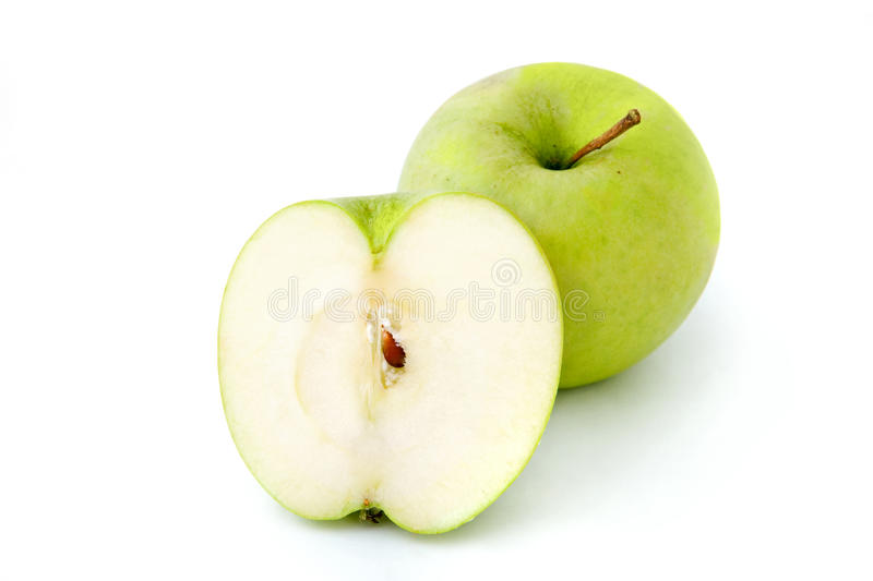 Green apple. Green Smith apple on white background royalty free stock images