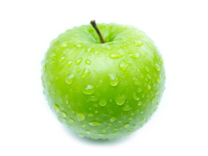 Green Apple. On white background stock photo