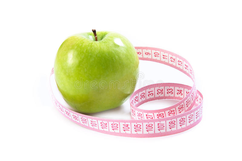 Download Green apple stock photo. Image of green, food, tape, concepts - 18063610