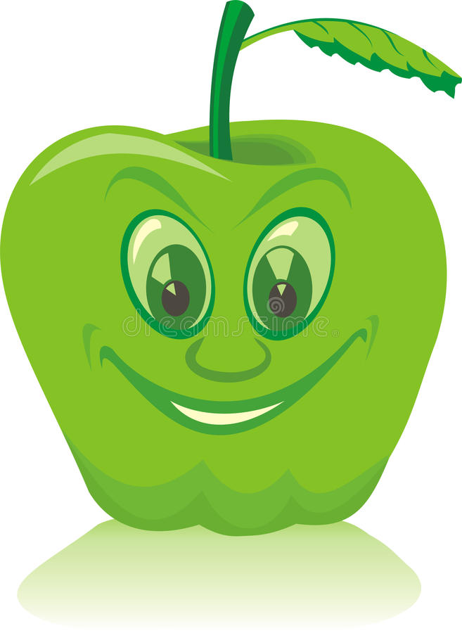 Green apple stock illustration