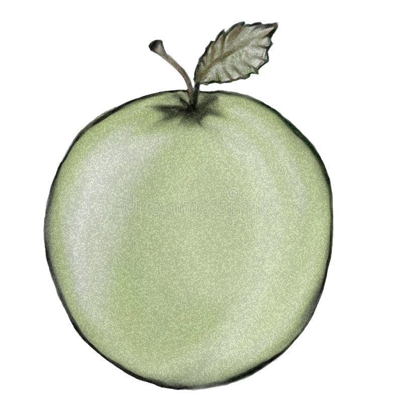 Download Green Apple stock illustration. Illustration of snacking - 456854