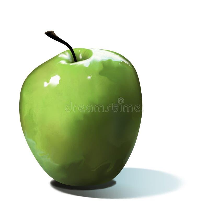 Download Green Apple stock illustration. Illustration of delicious - 9099047
