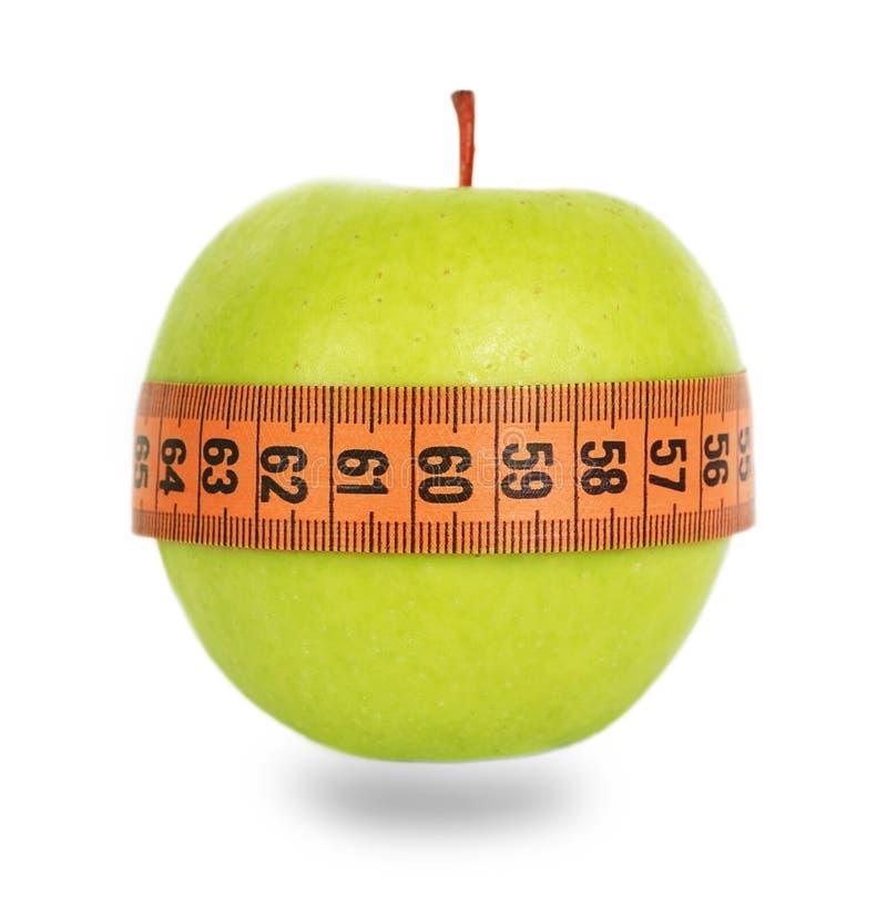 Free Green Apple And Orange Measuring Tape Stock Image - 45841711