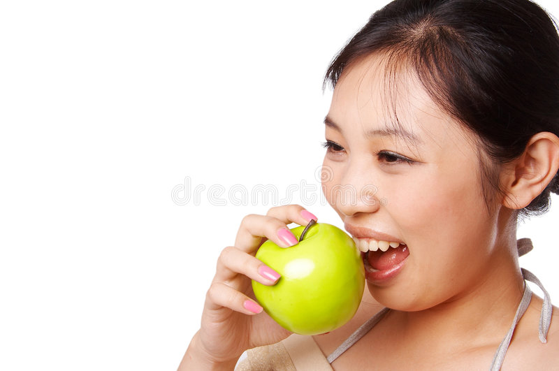 Download Green apple bite stock image. Image of asia, dieting, diet - 5565209