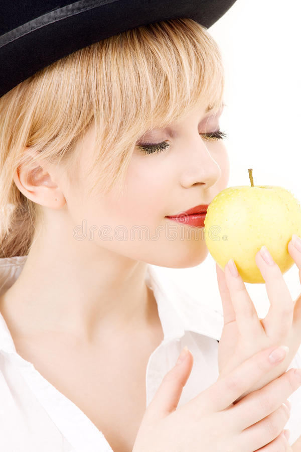 Download Green apple stock image. Image of blonde, green, apple - 41477055
